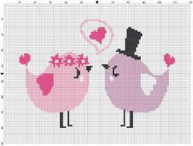 Beginner's Love Birds Counted Cross Stitch Sewing Kit